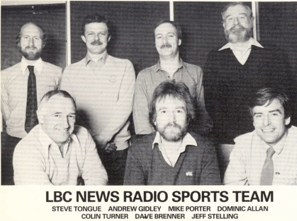 LBC/IRN sports desk 1980s.