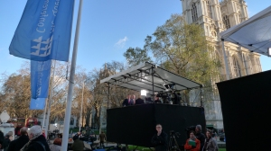 Media Tent City for Leveson Report reaction