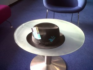 Tim Crook's fedora hat and last time he will use NUJ press pass