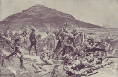 An illustration of the fighting in September 1901.