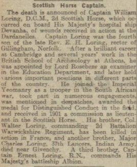 Dundee Evening Telegraph 4th November 1915.