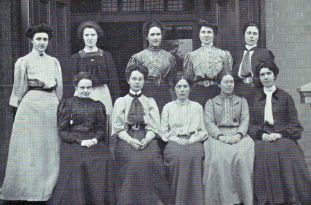 The women teaching staff of Goldsmiths College in 1905.